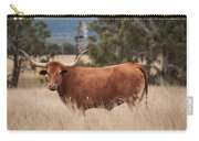 Longhorn Cow In The Paddock Carry-all Pouch