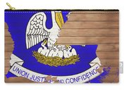 Louisiana Rustic Map On Wood Carry-all Pouch