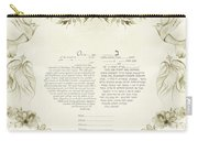 Love Birds Ketubah- Reformed Humanistic Version  Carry-all Pouch