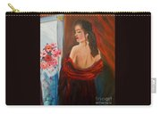 Lovely In Red Jenny Lee Discount Carry-all Pouch