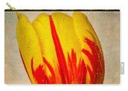 Lovely Textured Tulip Carry-all Pouch