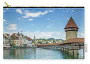 Lucerne Chapel Bridge And Water Tower - Panoramic Carry-all Pouch