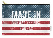 Made In Conway Springs, Kansas Carry-all Pouch