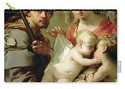 Madonna And Child Carry-all Pouch by Gaetano Gandolfi
