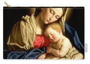 Madonna And Child Carry-all Pouch by Il Sassoferrato