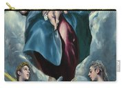 Madonna And Child With Saint Martina And Saint Agnes Carry-all Pouch