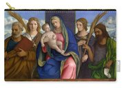Madonna And Child With Saints Carry-all Pouch