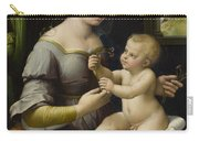 Madonna Of The Pinks Carry-all Pouch