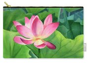 Magenta Lotus Blossom Carry-all Pouch