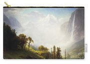 Majesty Of The Mountains Carry-all Pouch by Albert Bierstadt