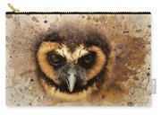 Malaysian Brown Wood Owl Carry-all Pouch