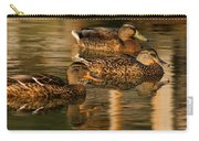 Mallards Swimming In The Water At Magic Hour Carry-all Pouch
