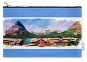 Many Glacier Hotel Panorama Carry-all Pouch