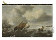 Maritime Scene With Stormy Seas Carry-all Pouch