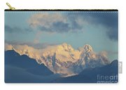 Massive Snow Caped Mountains In The Countryside Of Italy  Carry-all Pouch
