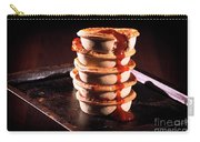 Meat Pies With Sauce And High Contrast Lighting. Carry-all Pouch