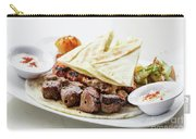 Middle Eastern Food Mixed Bbq Barbecue Grilled Meat Set Meal Carry-all Pouch