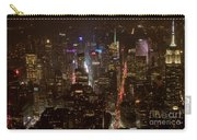 Midtown Manhattan Skyline Aerial At Night Carry-all Pouch