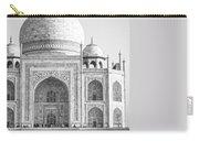 Monochrome Taj Mahal - Square Carry-all Pouch