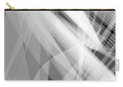 Monochrome White Abstract Vector Background, Gray Transparent Wa Carry-all Pouch