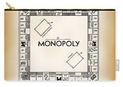 Monopoly Board Game Patent Art  1935 Carry-all Pouch