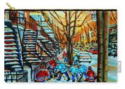 Montreal Hockey Paintings Carry-all Pouch