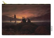 Moon Rising Over The Sea Carry-all Pouch