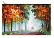 Morning Fog - Palette Knife Oil Painting On Canvas By Leonid Afremov Carry-all Pouch