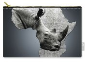 Mother Africa With A Rhino  Carry-all Pouch