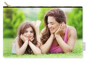 Mother With Daughter Outdoors Carry-all Pouch