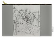 Mother With Sick Child 1878 Fig 29 9h22 6 Tg Vasily Perov Carry-all Pouch