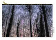 Motion Blurred Trees In A Forest Carry-all Pouch