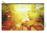 Mountain Stream In Summer Mist Carry-all Pouch