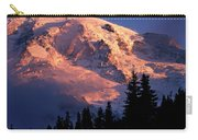 Mt. Rainier Dawn And Clouds Carry-all Pouch