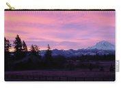 Mt Rainier Frosty Sunrise Carry-all Pouch