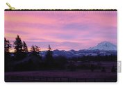 Mt Rainier Frosty Sunrise Carry-all Pouch