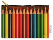 Multicolored Pencils In Rows Carry-all Pouch