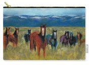 Mustangs In Southern Colorado Carry-all Pouch