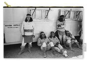 Native American Extras Dressed As Apache Warriors The High Chaparral Set Old Tucson Arizona 1969 Carry-all Pouch
