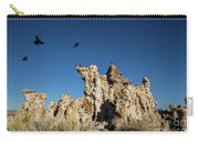 Natural Rock Formation And Wild Birds At Mono Lake, Eastern Sier Carry-all Pouch