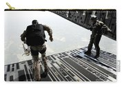Navy Seals Jump From The Ramp Of A C-17 Carry-all Pouch