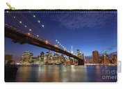 New York City Skyline By Night Carry-all Pouch