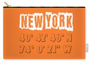 New York Coordinates Carry-all Pouch