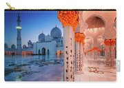 Night View At Sheikh Zayed Grand Mosque, Abu Dhabi, United Arab Emirates Carry-all Pouch