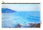 Ocean Coastline Watercolor Carry-all Pouch