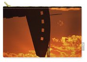 Oil Rig Pump Jack Silhouetted By Setting Sun Carry-all Pouch
