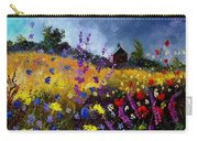 Old Chapel And Flowers Carry-all Pouch