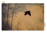 Lone Crow Flies Over The Old Country Road  Carry-all Pouch