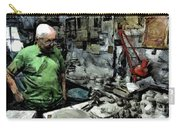 Old Craftsman Portrait In The Laboratory Carry-all Pouch