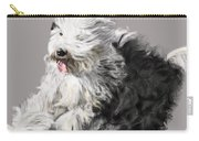 Old English Sheepdog - Coming Through Carry-all Pouch